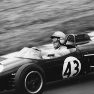 POETRY IN MOTION. Denny Hulme, Brands Hatch 1965, showing how much the modern era misses the sight of the driver in action