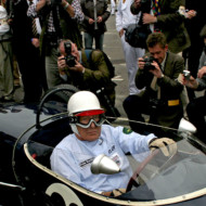 "LOTUS v. COOPER. Moss: ""If you could handle it [the Lotus] was probably a better car. Rather like going out with a tomboy or a really stunning bird I suppose."" Stirling's 80th, Goodwood 2009"