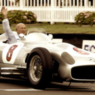 """DID FANGIO LET YOU WIN (your first GP)?"" Moss: ""I don't know. He said: ""That was your race."" But he's the sort of person who would have said that anyway."" Stirling's 80th Parade, Goodwood Revival 2009"